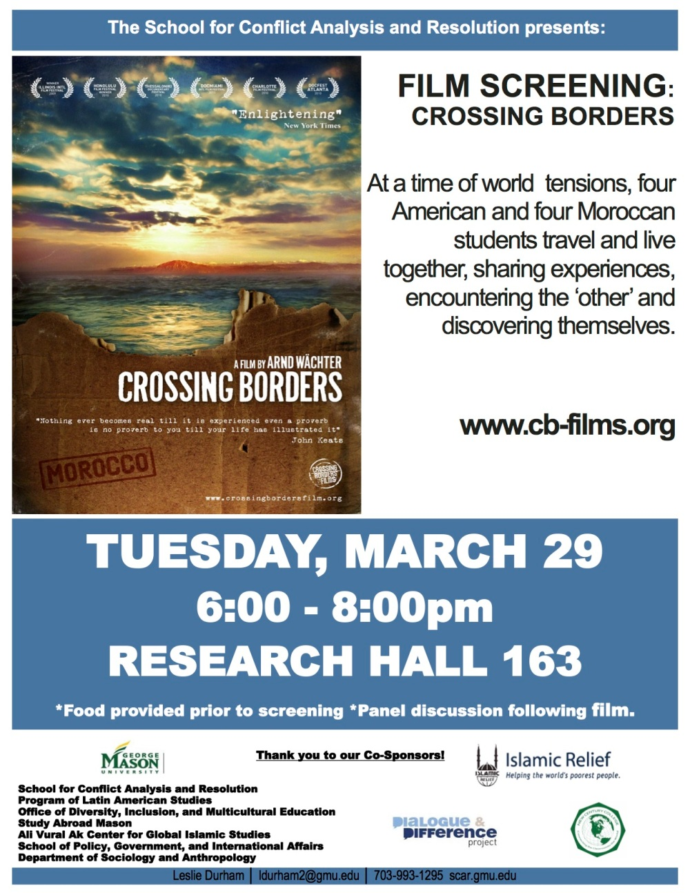 crossing borders flyer
