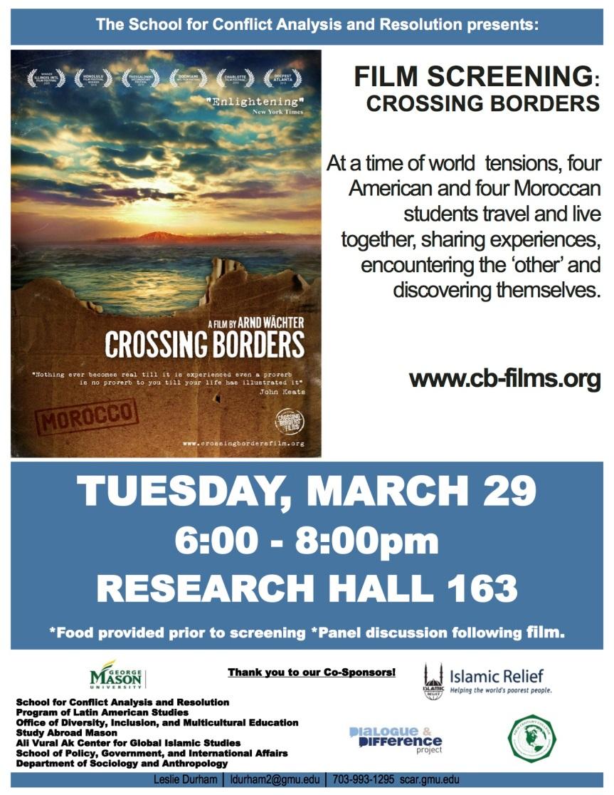 crossing borders flyer